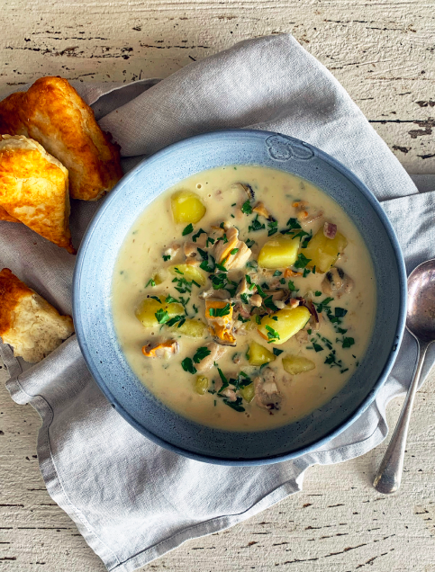 Recipe: Mussel Chowder + Fry Bread