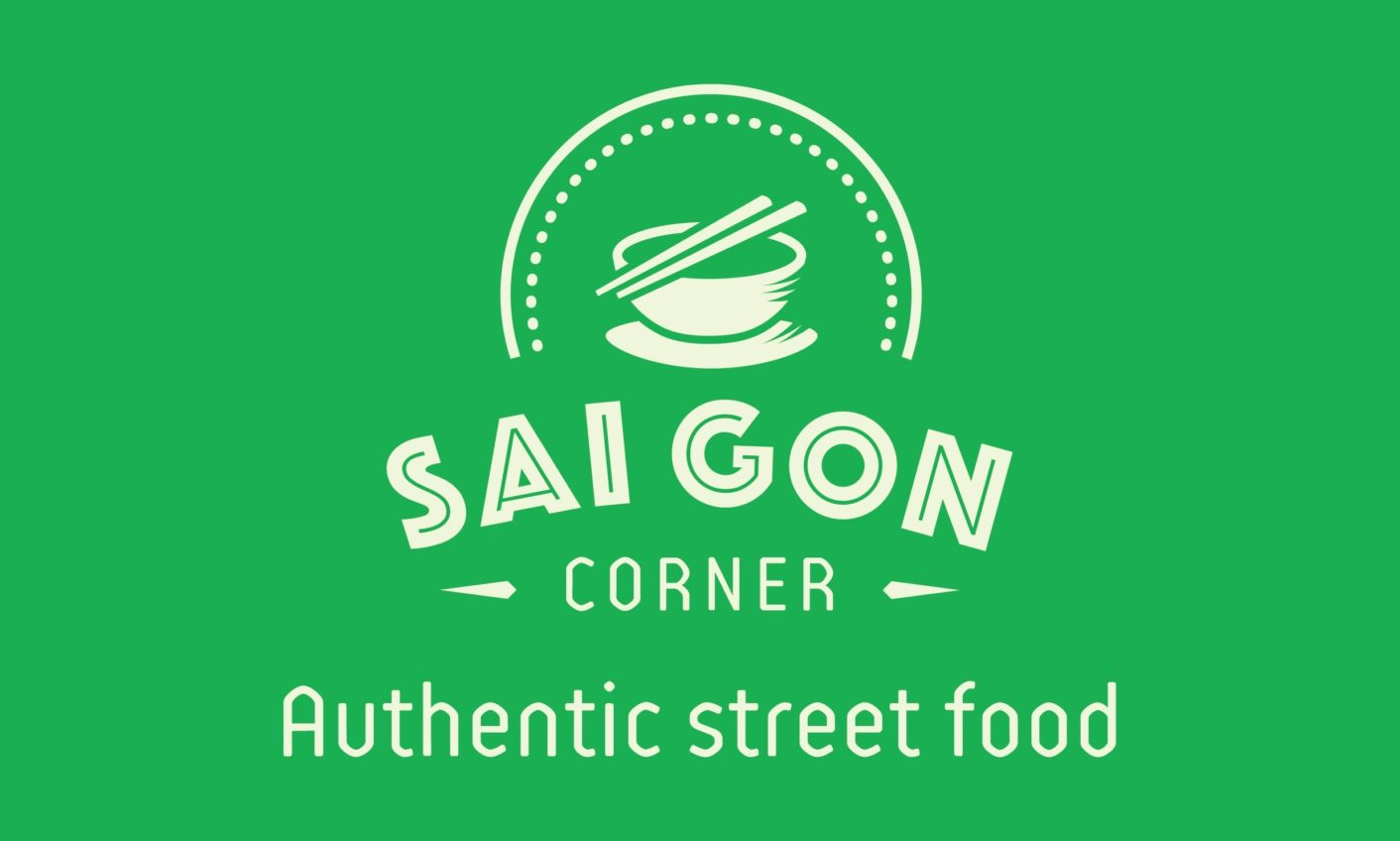 Saigon Corner Logo Slogan Color 02