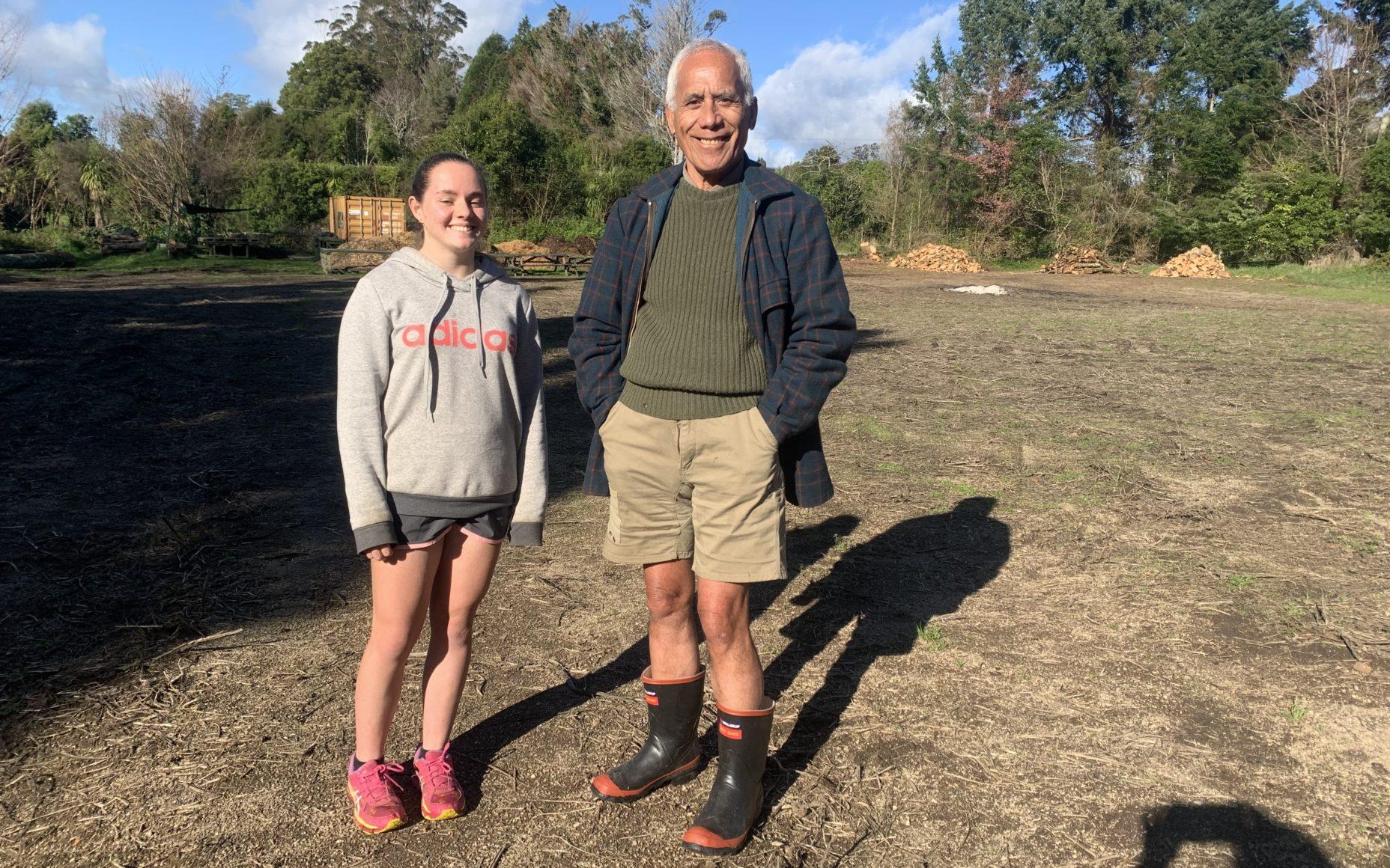 Kaitlyn Lamb With Te Rangikaheke Of Kai Rotorua