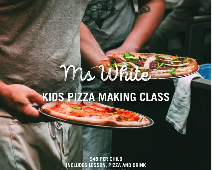 Feast Festival:  Ms White:  Kids Pizza Making Class