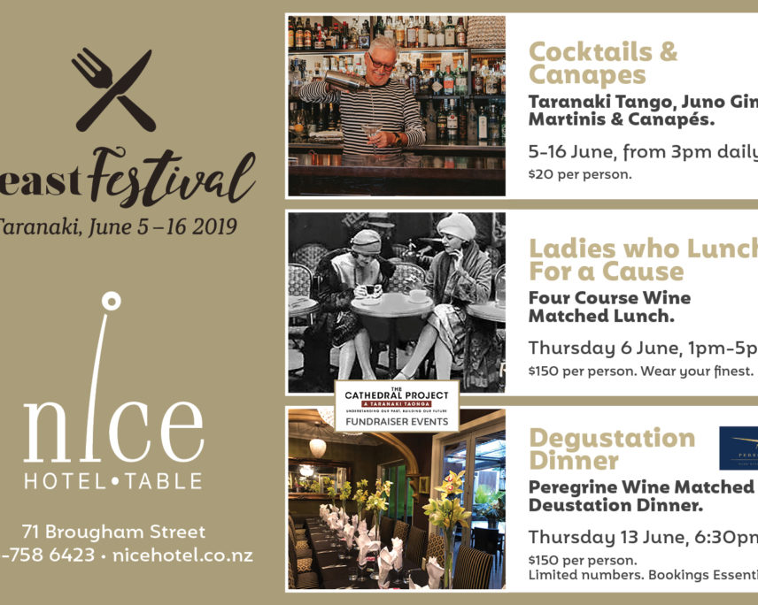 Feast Festival Taranaki: Table @ Nice Hotel : Ladies Who Lunch for a Cause