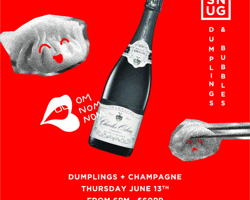 Feast Festival Taranaki:  Snug Lounge:  Champagne and Dumplings
