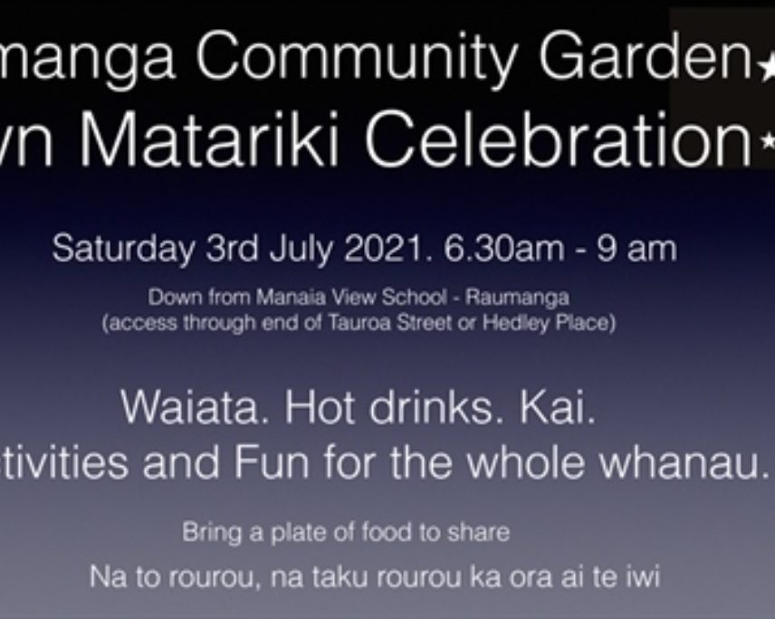 Raumanga Community Garden Dawn Matariki Celebration